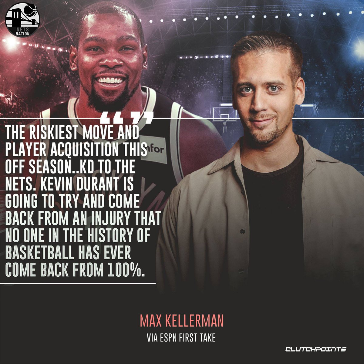Is Max Kellerman accurate with his take on the Nets' signing of Kevin Durant? 🤔👀  #WeGoHard #Nets