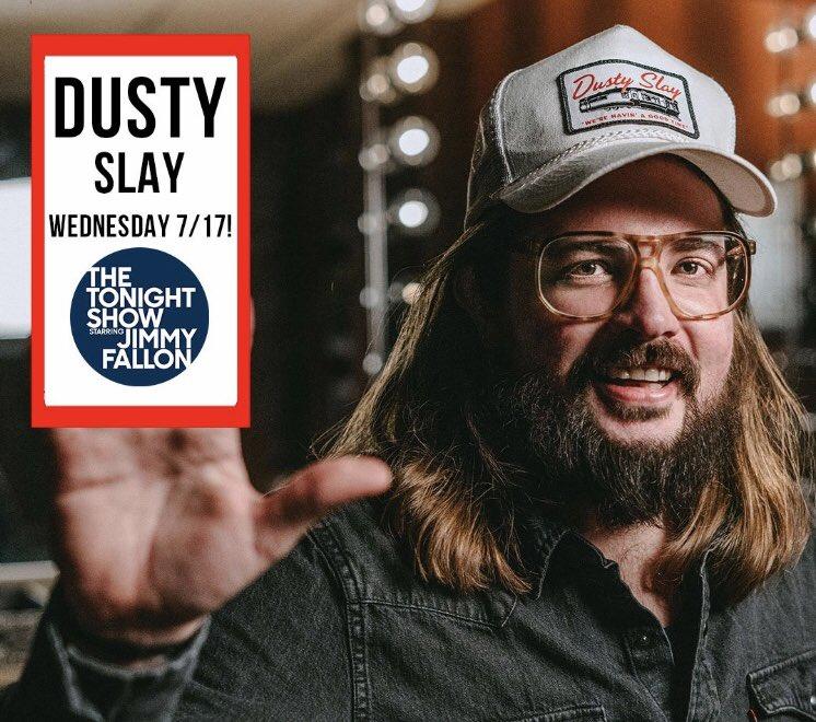 Check out Nashville's own @dustyslay tonight on @FallonTonight. He's great!