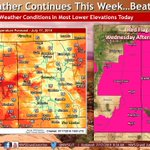Image for the Tweet beginning: Hot weather continues today with