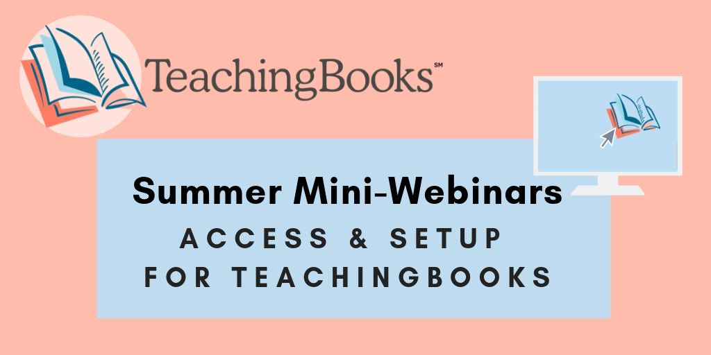 test Twitter Media - Set up for success!  Join this 15-minute demo to learn how to best set up your license for success. Put TeachingBooks resources where your learning community can find them. We'll take a quick look at the options to embed and integrate.   Join us: https://t.co/LhuCO8lwsB https://t.co/lQjGxHzaDB