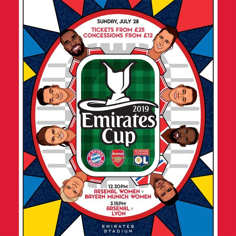 Our game in the Emirates Cup vs Bayern Munich is coming in fast! Sunday July 28th, Emirates Stadium, KO @ 12.30pm. Don't forget to get your tickets here 👉 https://bit.ly/2KIxm7m