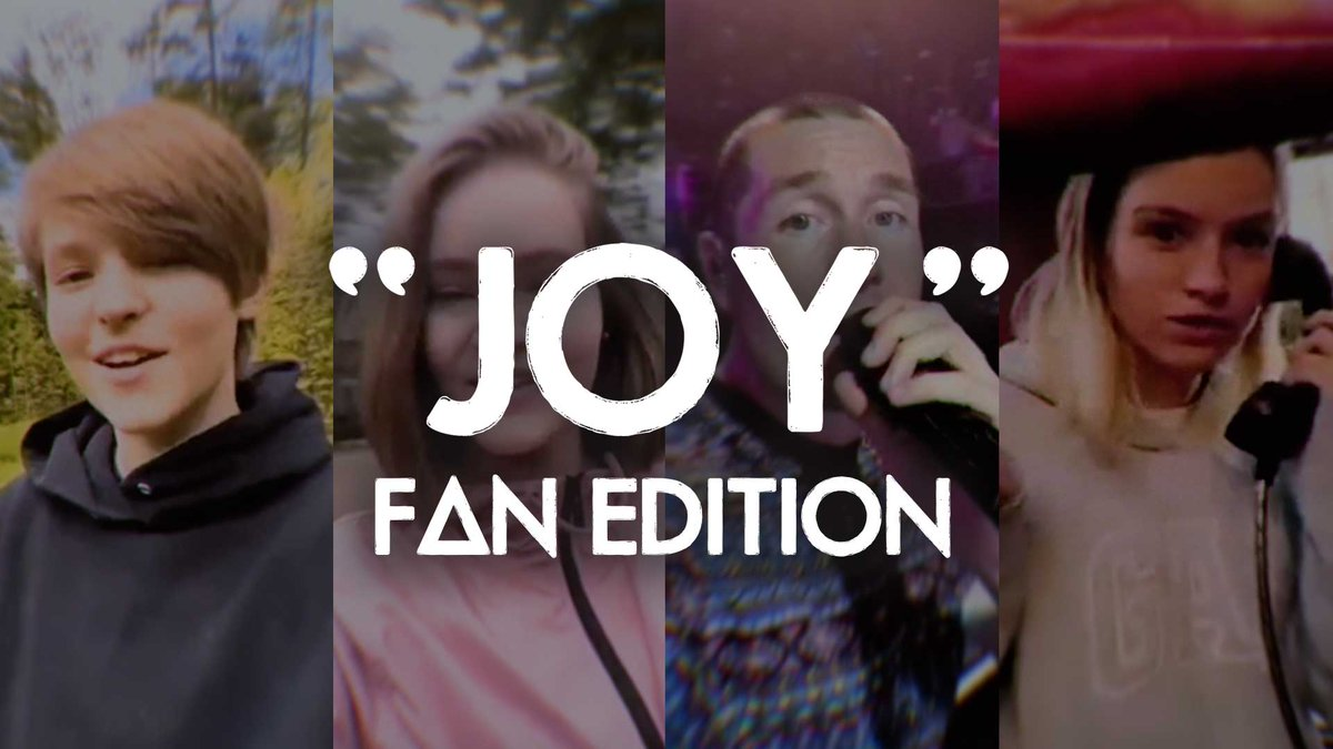 Weve taken some of your video responses to our Joy vertical video and edited a new version featuring as many of you lot as we could fit. Watch it here: Bastille.lnk.to/joyfanTW (and keep them coming on #bastillejoy)
