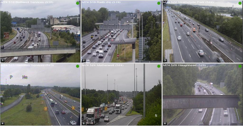 test Twitter Media - #M74 roadworks update 🚧 @ 17:11⌚  Traffic queuing in both directions towards J5 Raith. Journey time still under 10 minutes at the moment.   #BePrepared https://t.co/RpcBToqFx8