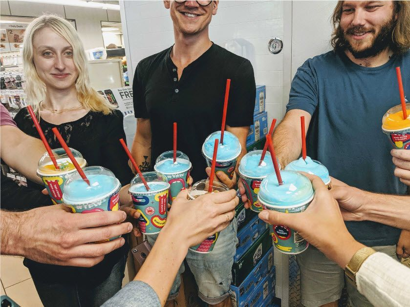 Blue Raster out for for free Slurpee day! Interested in joining our growing team!?  http://bit.ly/2k2NB2o #FreeSlurpeeDay
