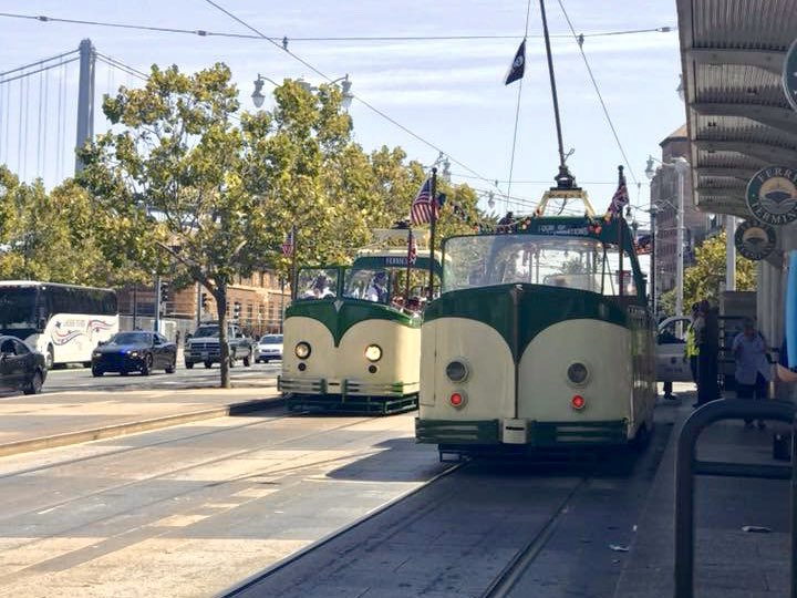 🚨 Do you want to ride a boat tram?  I am still broken, but did you know I have a *twin sibling* that could be taking my place while I'm repaired?  Let's see if we can get @sfmta_muni to get him in service. Send them a tweet in support if you want boat boi service 💕 Thank you