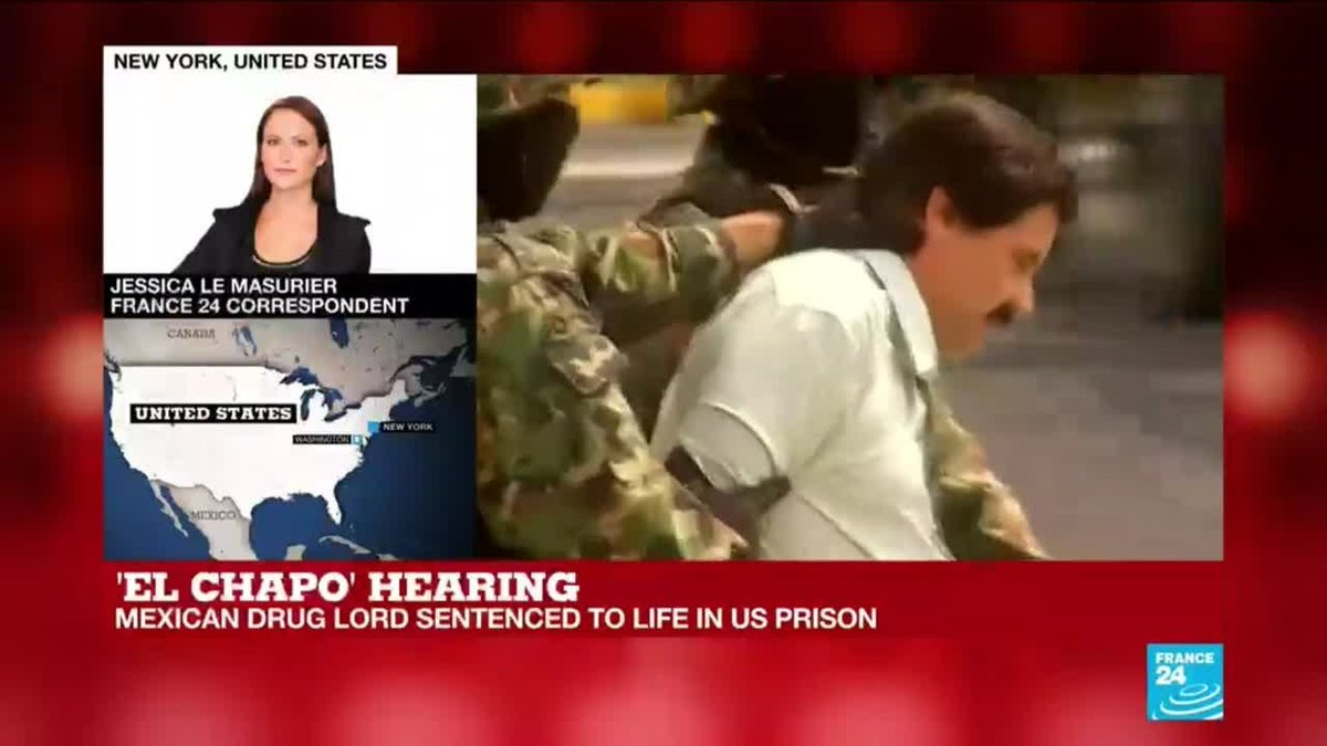▶️ Mexican drug lord El Chapo sentenced to life in supermax prison f24.my/5FL9.t
