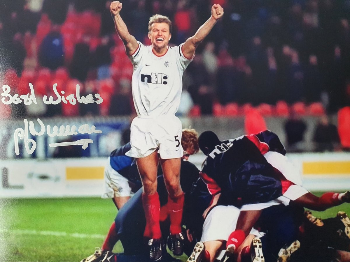 COMPETITION To be in with a chance of winning this hand signed 12x8 photo of Arthur Numan celebrating in Paris in 2001, all you have to do is, follow the page & tell us Which current EPL manager missed a penalty for PSG in the shootout? A winner will be chosen on Sunday 21st