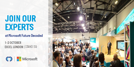 Were delighted to announce that we are attending #Microsoft #futuredecoded ! Make a note in your diary to visit us on 1-2 October at stand 59. For more details about the event visit bit.ly/2lcQxJZ