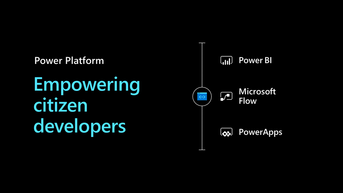 We need citizen developers—empowering citizen developers is what the #PowerPlatform has been built for. #MSInspire
