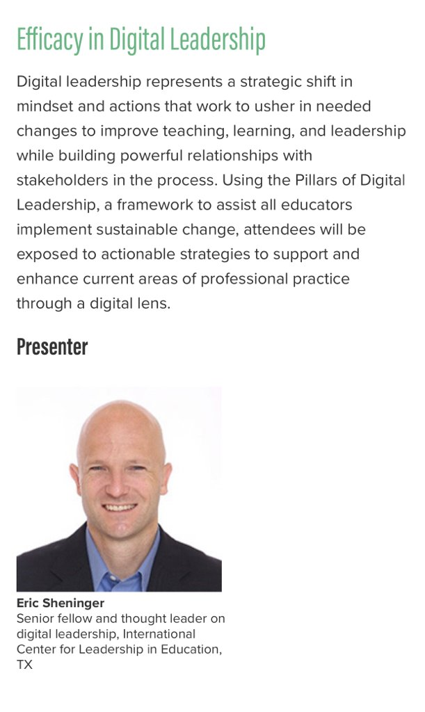 Join me tomorrow in Hynes 302/304 at 8:30 AM for Efficacy in Digital Leadership #NPC19 #npc2019 #digilead