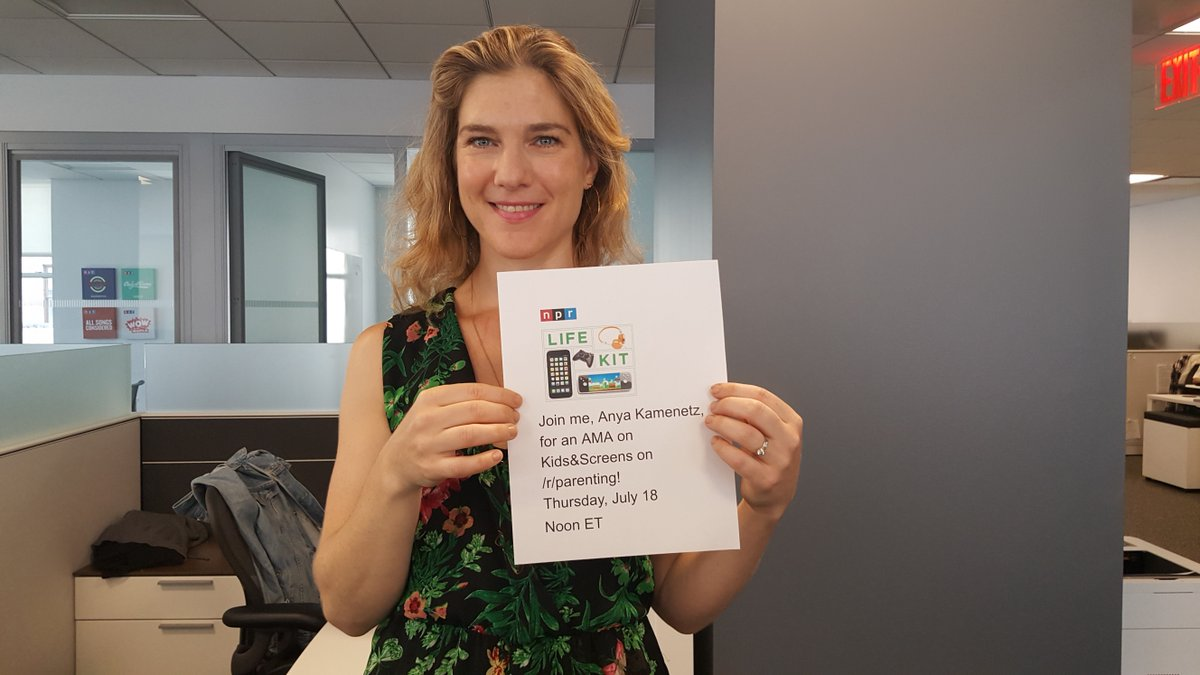 """Bring all your questions about kids and screens to a #redditAMA with Life Kit host @anya1anya, author of """"The Art of Screen Time,"""" Thursday at noon ET. Ask her anything!"""