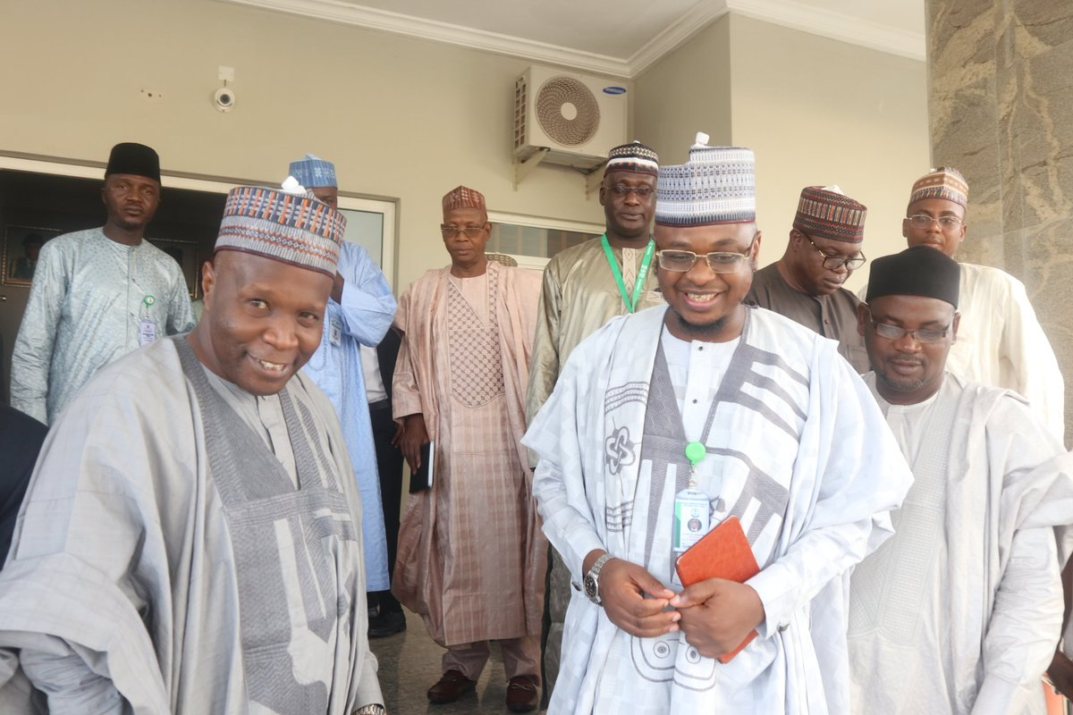 Courtesy visit to the Executive Governor of Gombe State, His Excellency, Alhaji Muhammad Inuwa Yahaya by the NCS Delegation, led by the Chief Host/ #DGNITDA, @DrIsaPantami #NCSGombe2019 #DigitalTransformation #NITDA19 #NITDA
