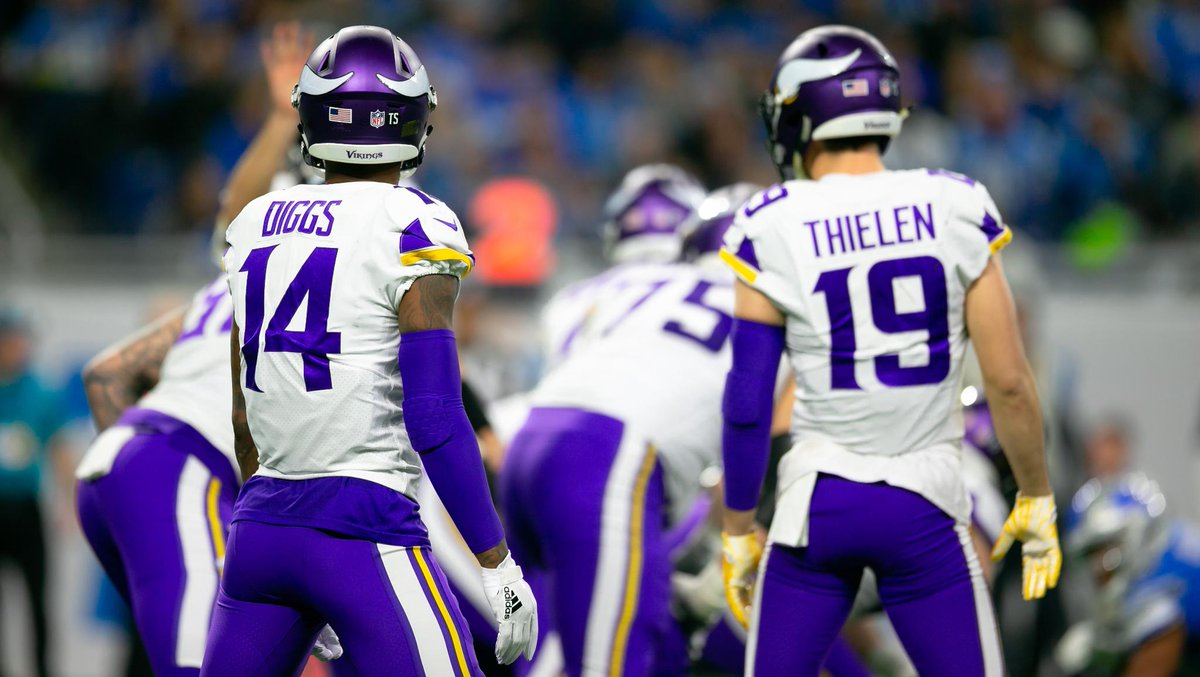 .@athielen19 and @stefondiggs combined for 2,394 yards and 18 touchdowns last season and were ranked the leagues second-best wide receiver duo per NFL.com. 📰: mnvkn.gs/cCehfe