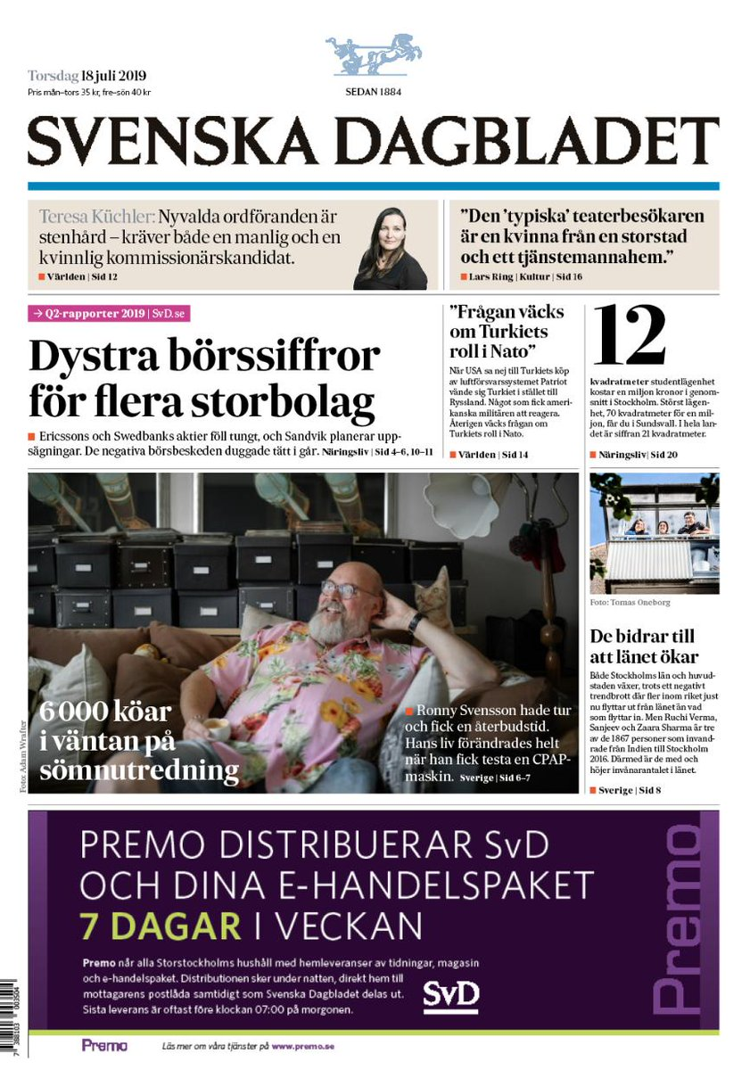 Andningsmasken förändrade livet – nu kan Ronny Svensson sova. Nu kan du läsa torsdagens eSvD på http://svd.se/esvd