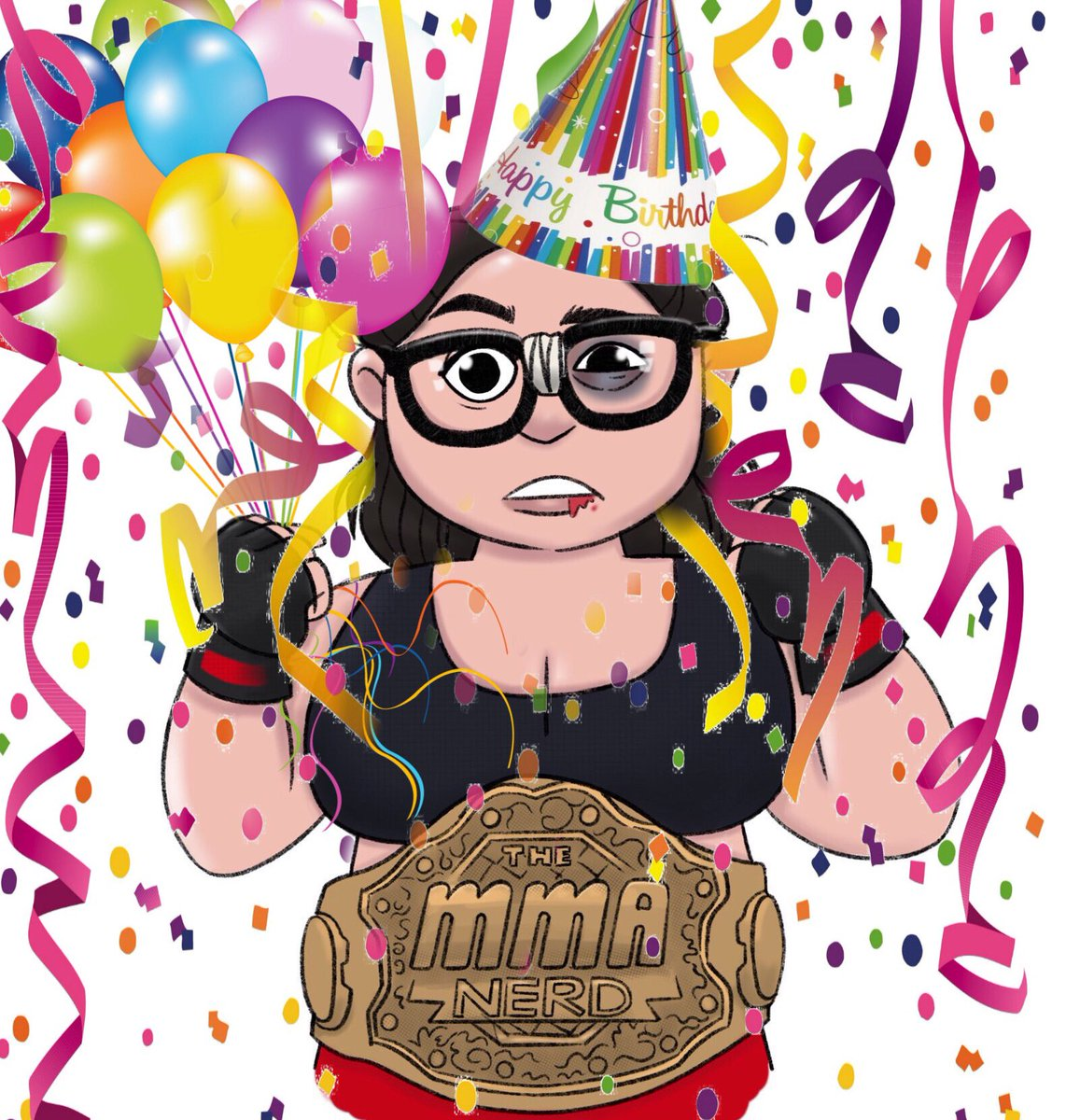 "Happy birthday to me 🎉📆🎉  I've included a list of gift options, but if you really love me then you'll give me all three! 😘🎁 1. Ask me an MMA question for the show 2. Give me your best ""pushing 30"" birthday advice 3. Subscribe to my podcast! 🎊🤓🎊"