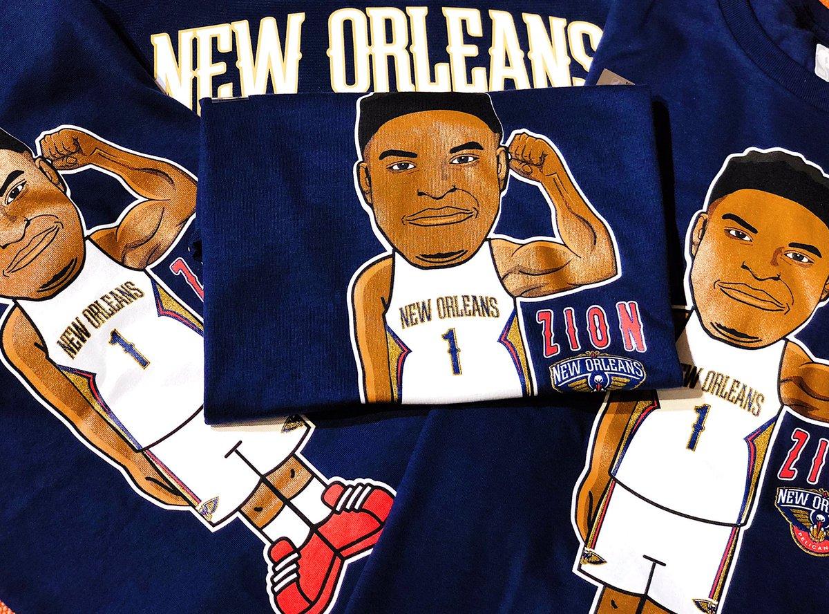 💪  @Zionwilliamson x  @PelicansNBA x @NBASTORE