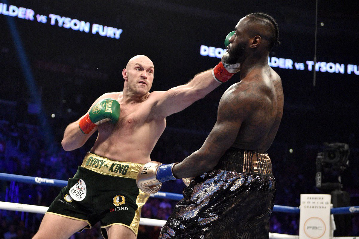 Who wins the rematch?   Tyson Fury  Deontay Wilder   <br>http://pic.twitter.com/hVJqu1IG5E