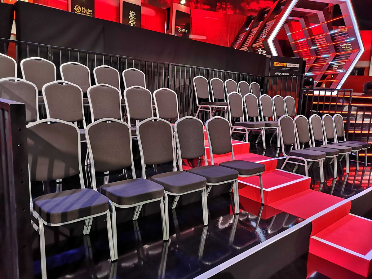 Sitting comfortably?  These seats are about to be filled with talent... and the #F1Esports Pro Draft goes LIVE at 1900! 👀  Join the stream here >> http://f1.com/Esports-Stream  pic.twitter.com/9zgiLy6gqx