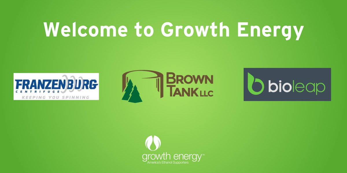 We're excited to announce the addition of three new innovative businesses - Franzenburg, Brown Tank LLC, and Bioleap Inc. - to our association! We look forward to building a bright future with these dynamic companies. Learn more:  https://growthenergy.org/2019/07/17/growth-energy-welcomes-3-new-innovative-business-members-to-association/…