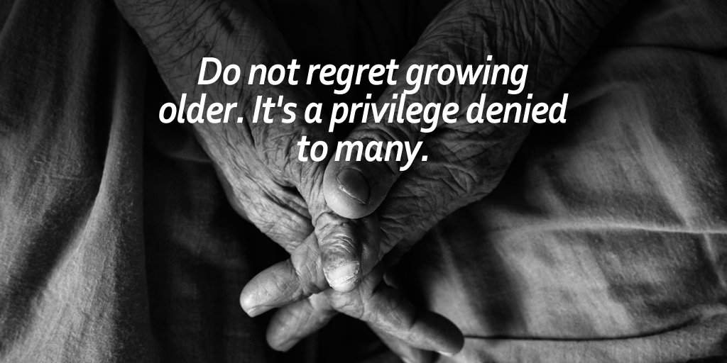 Do not regret growing older. It's a privilege denied to many. #quote #WednesdayWisdom <br>http://pic.twitter.com/F0AbZoA8Yj