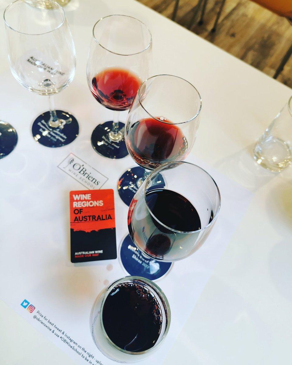 All the #shadesofred #OBwineschool @obrienswine #Australianwine #winetasting