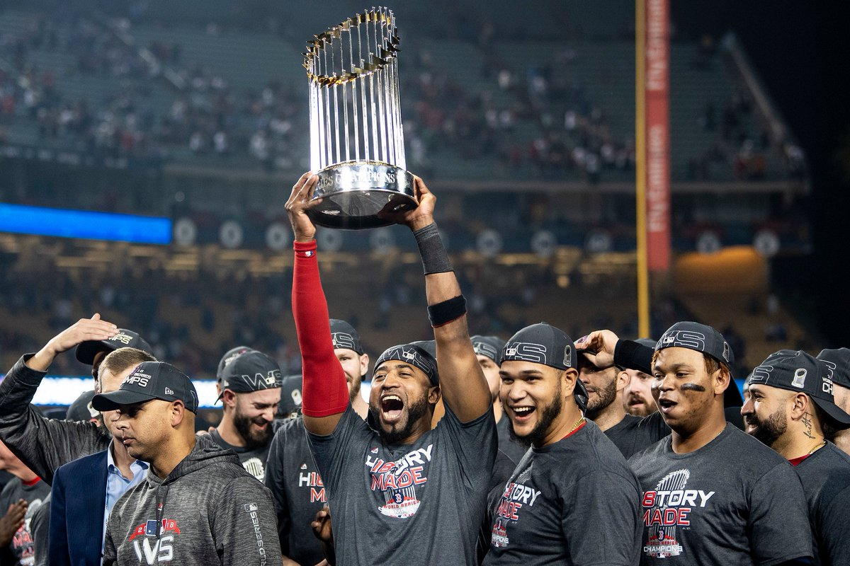 Thank you to Red Sox Nation and my teammates for your support over the past few years. I'm honored to share the experience of being a World Series Champion with you and to have created friendships that will last a lifetime. To the best fans in baseball, thank you!