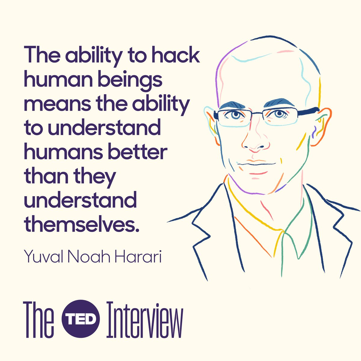 This was a mind-blowing conversation with @harari_yuval -- latest episode of #TheTEDInterview.  At the heart of it is a chilling question. Does the future need us?  https://bit.ly/2JRTk5w  Please share, comment, review, rate. Thanks all.