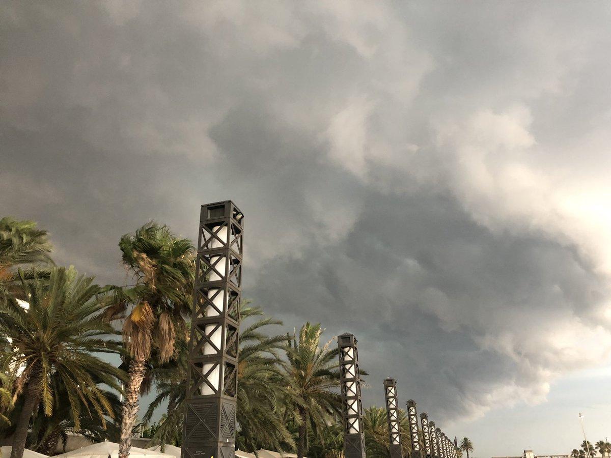 barcelone sous la pluie
