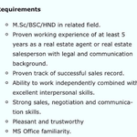 Experienced Real Estate Sales Officer (ERESO) - LagosInterested and qualified candidates should send their CV to: deborah.iwolode@prestigioushomeslimited.comNote: Only for Corp Members serving in Lagos State.