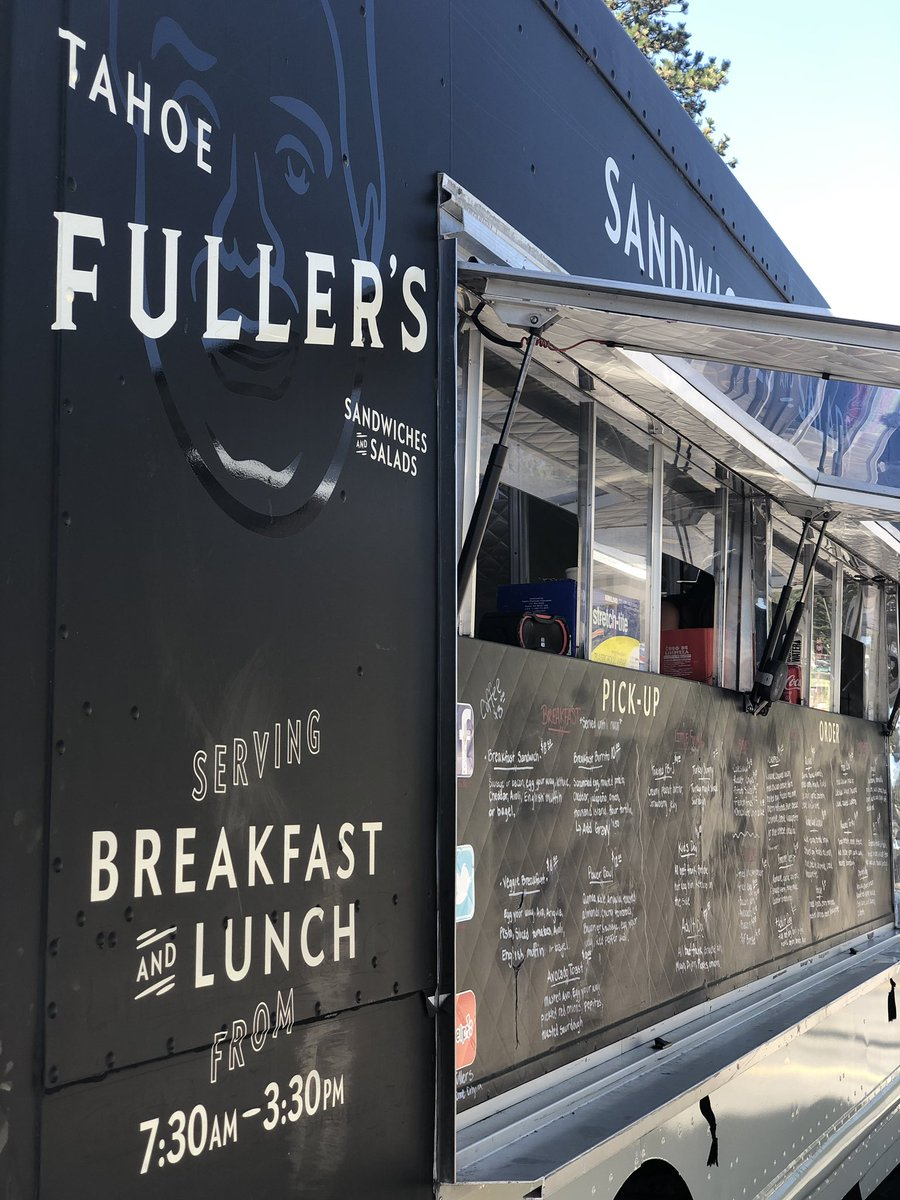 Just had an a m a z I n g breakfast burrito at Tahoe Fuller's food truck in Tahoe City. Parked across from Shell and sometimes parked by Plumas Bank. Professional chef.  Yum and no line!  #tahoefullers #tahoecity #foodtruck