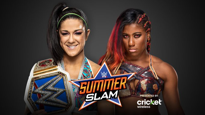 .@itsBayleyWWE will have to counter the 🔥 within The #WarGoddess when she defends her #SDLive #WomensTitle against @WWEEmberMoon at #SummerSlam! https://t.co/EmnPU49