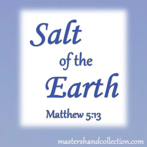 When we share our faith we are giving the unsaved world the redeeming qualities of salt. find out what they are here...  https://mastershandcollection.com/saltofearth  #BibleStudy #Devotional #ThursdayThoughts