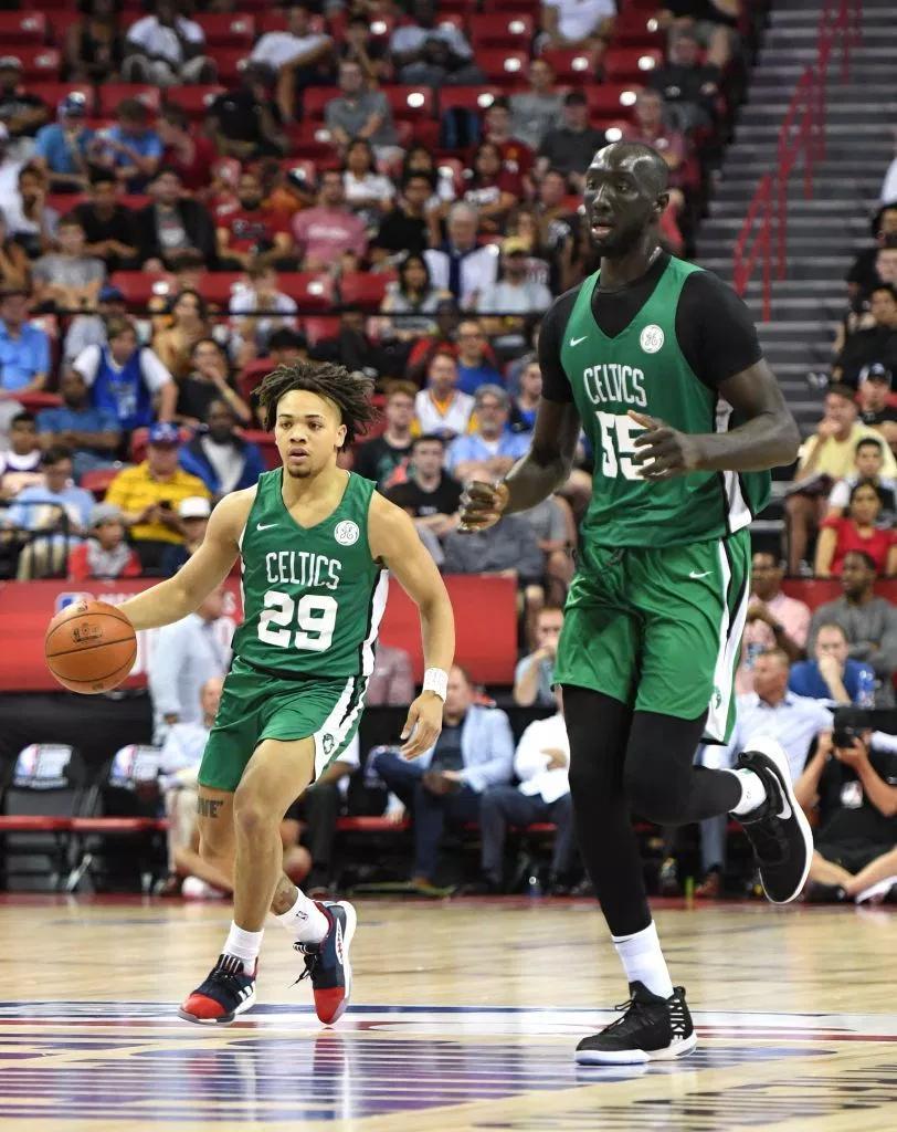 A pesar no haber sido elegido durante el #NBADraft el gigante senegalés tiene una nueva oportunidad de entrar al circuito profesional, ha destacado en la #SummerLeague con los #Celtics y estos podrían incluirlo en su plantilla. @TigoSportsGt