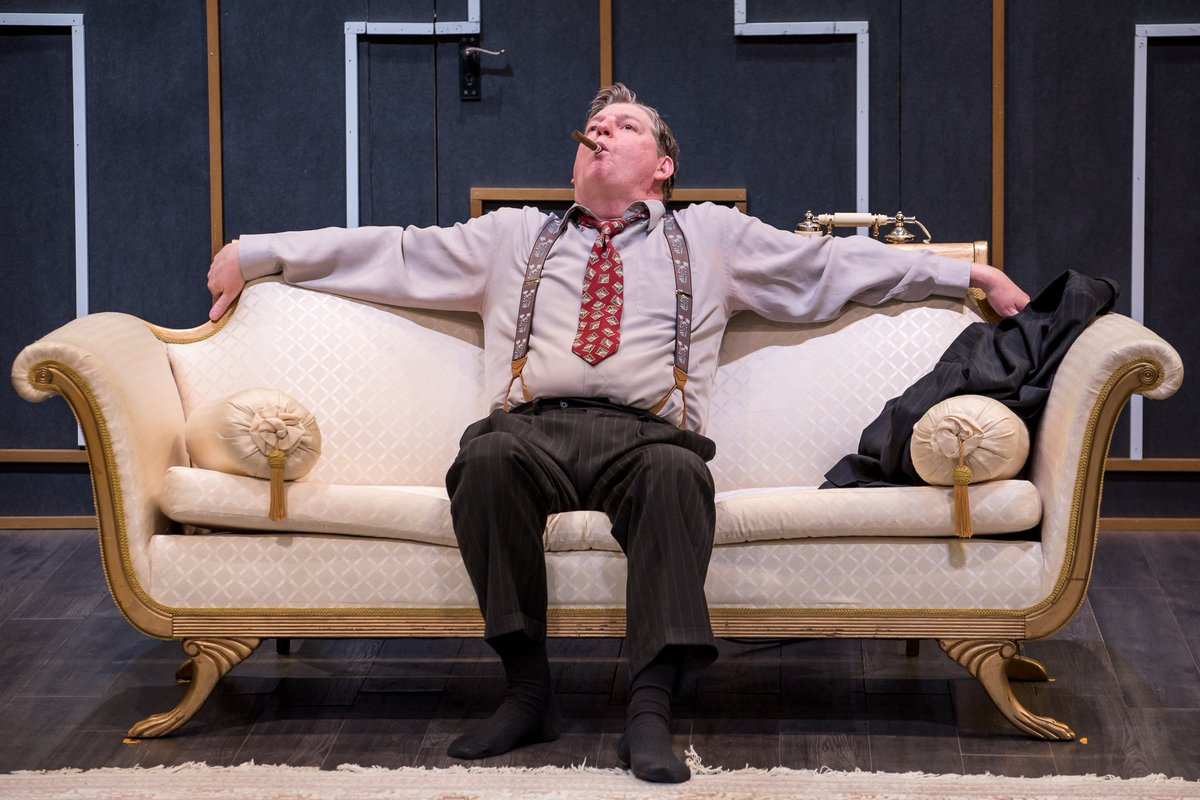 """""""Born Yesterday is an interesting character study and certainly well worth a look. It even comes with healthy dose of humour."""" - Review Vancouver   https://t.co/hlEp0pGDRL  • Paul Brandt as Harry Brock • Zemekiss Photography   #ETC2019 #BornYesterday #ReviewTheatre https://t.co/7QGBH2isXK"""