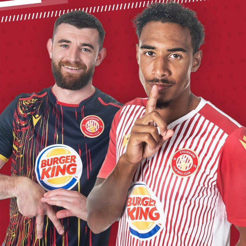 There are new kits, and then there are new kits... 😮 @StevenageFC
