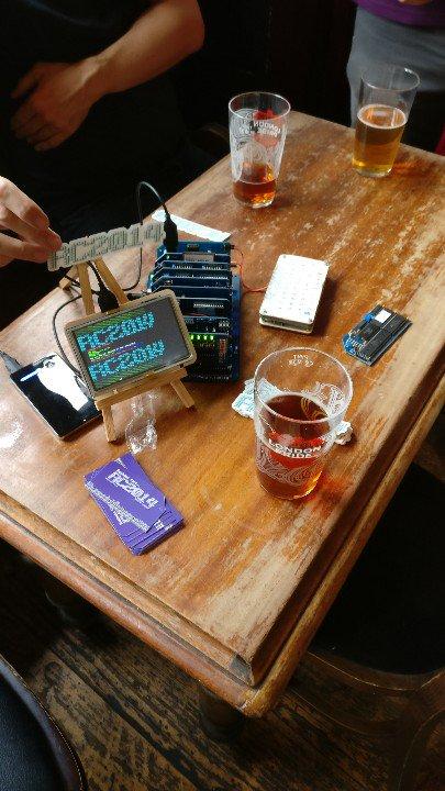 Arrived and set up at Hardware Hacking Hour #3HLondon<br>http://pic.twitter.com/H7TmLi8Jvc
