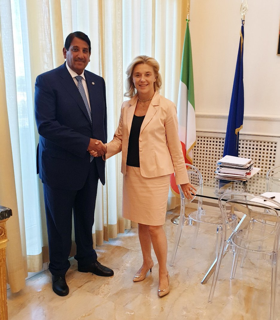 Deputy Prime Minister and Minister of Foreign Affairs @MBA_AlThani_ Sends Written Message to Italian Foreign Minister bit.ly/2Slne4g #MOFAQatar
