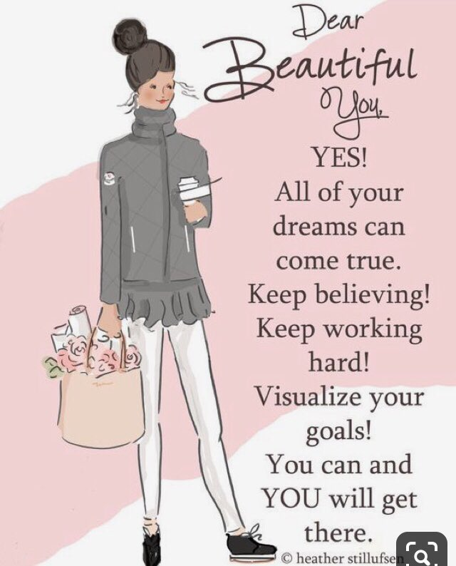 #dearbeautifulyou #goals #dreams #keepbelieving #keepworkinghard #visualiseyourgoals #youwillgetthere #heatherstillufsen ♥️ @heatherstilluf