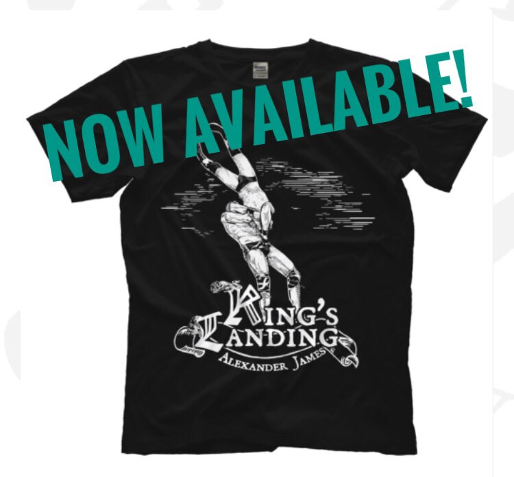 New shirt available! Design by the amazing @ msatuna (on Instagram) Only available at http://Prowrestlingtees.com/alexanderjames #prowrestlingtees Online exclusive! Ships worldwide!