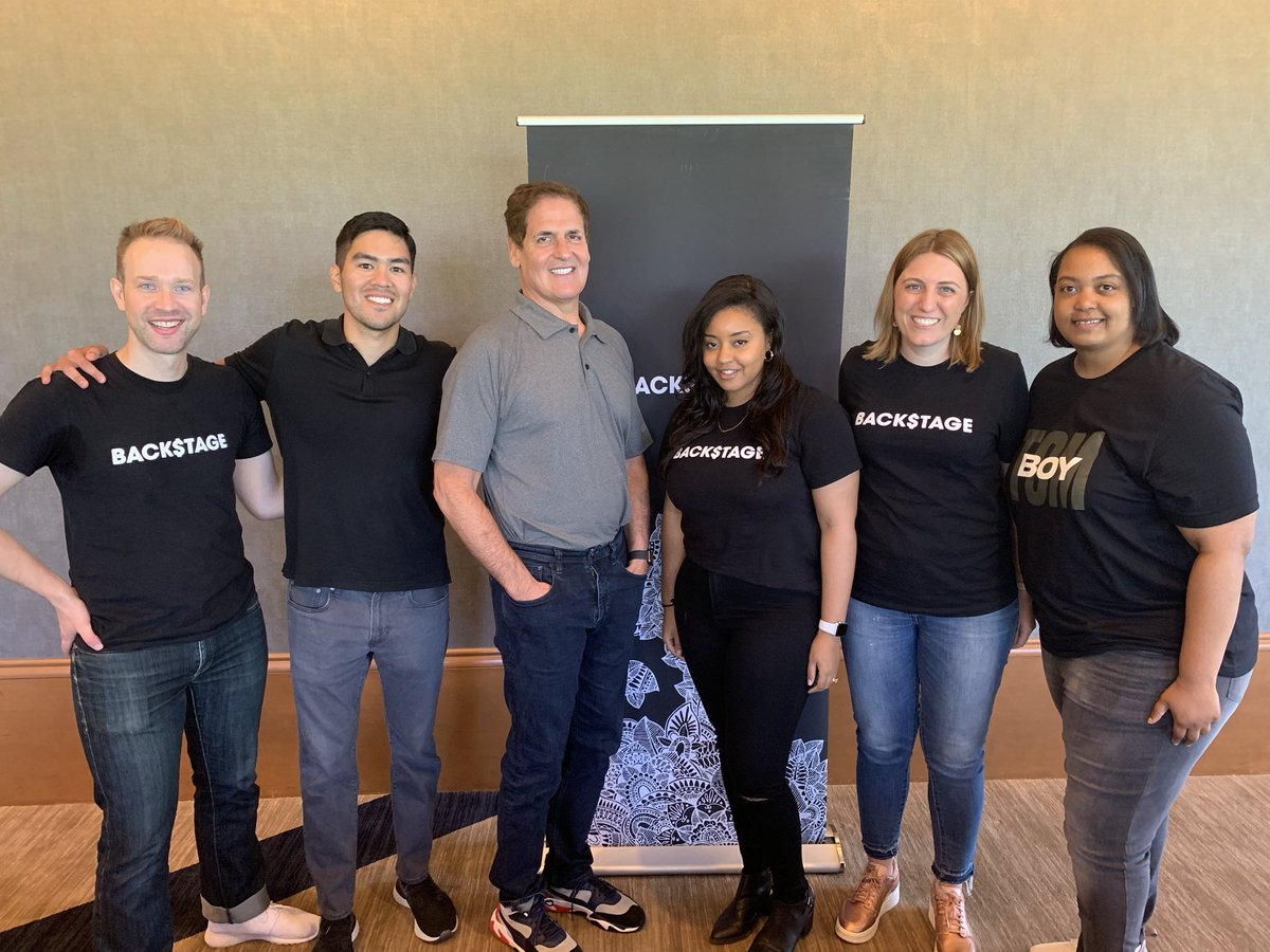 Thank you @mcuban for taking time to meet with some of the @Backstage_Cap Headliners today! Your feedback and encouragement was wonderful to hear 🙌🏼💜