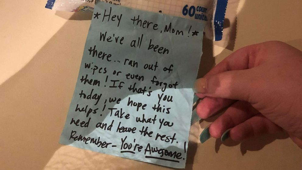 Small acts of kindness go a long way! This changing table note is a simple way to help another mom out. gma.abc/2lk5kCQ