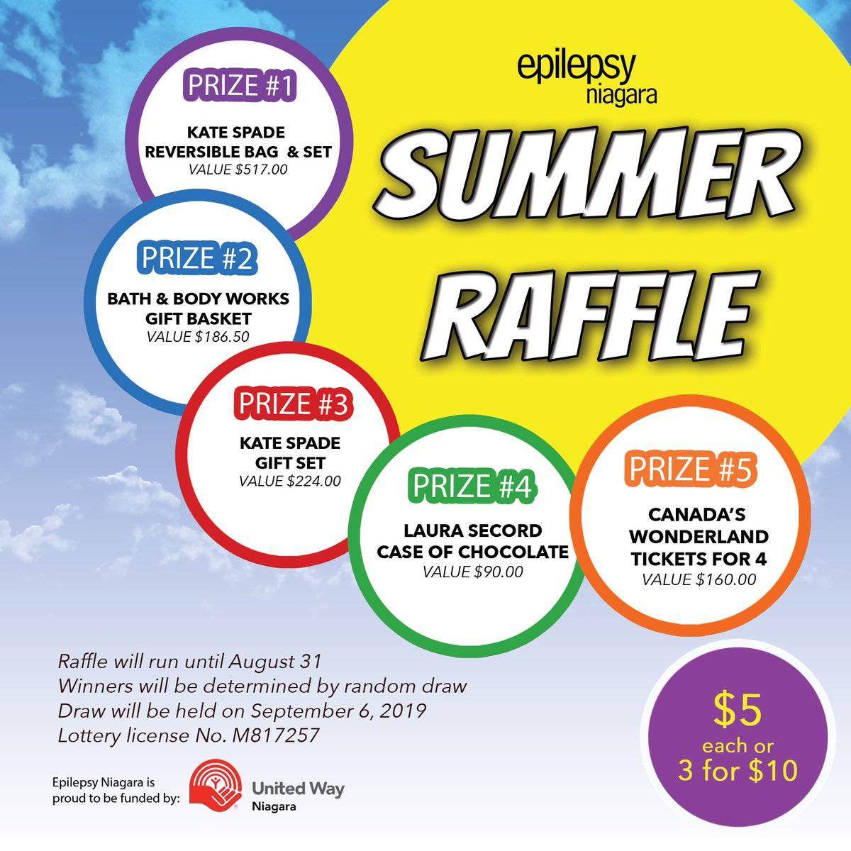 This is one of our best summer raffles yet! Contact us to purchase tickets - info@epilepsyniagara.org  #raffle #summer #amazingprizes #iwishicouldbuytickets #winning #epilepsy #niagara #niagarafalls #canada https://t.co/94X22T9XKs