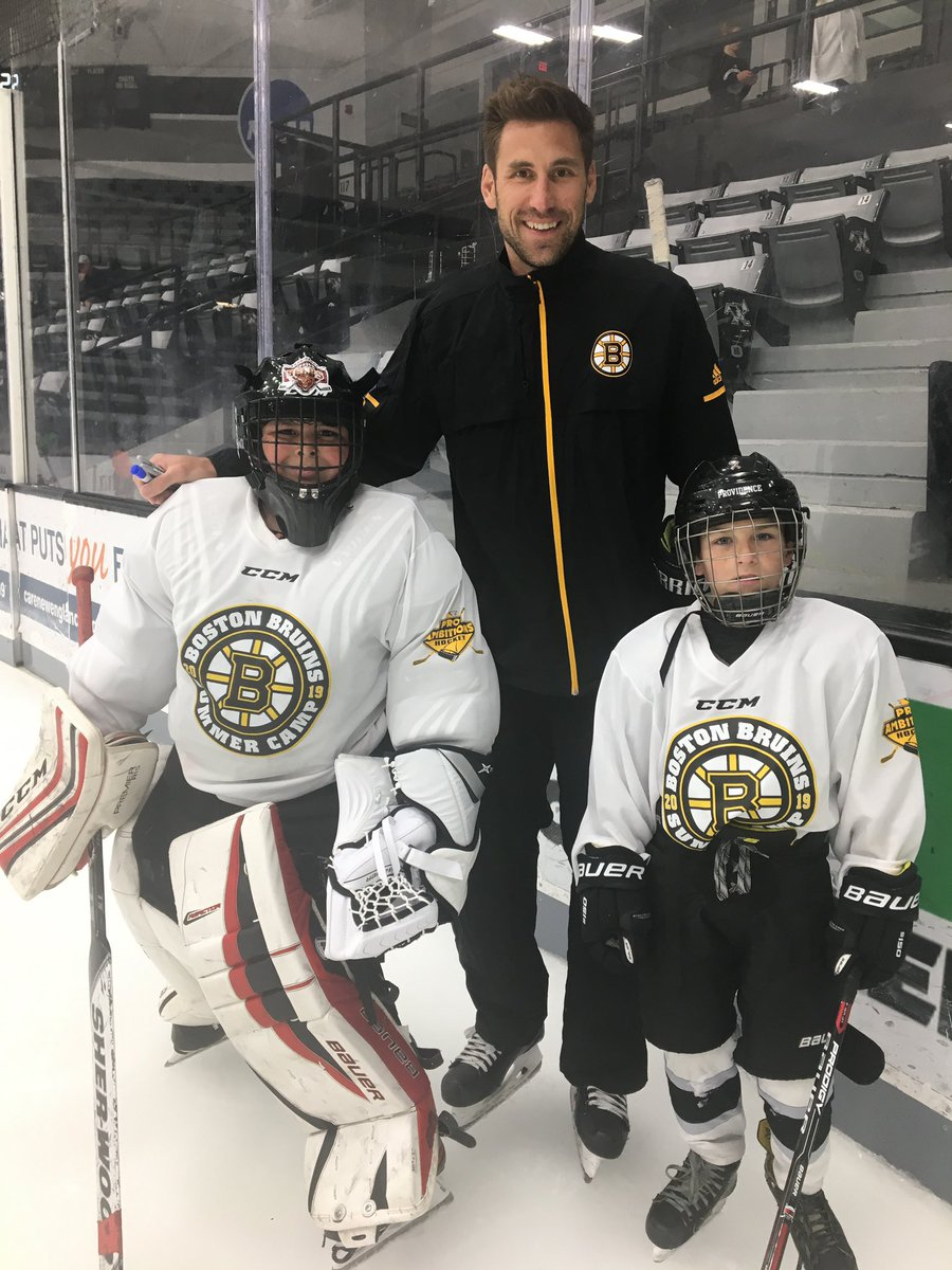 .@AHLBruins coach Jay Leach is on the ice at Schneider Arena in Providence for today's #BruinsAcademy and @ProAmbitions Summer Camp, pres. by O.R.G. Packaging.  For more info on the rest of this summer's camps, visit http://BostonBruins.com/SummerCamp