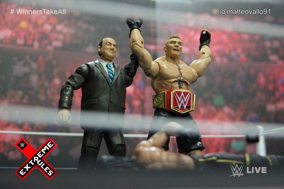 Brock Lesnar is the new WWE Universal Champion  #BrockLesnar #SethRollins #PaulHeyman #UniversalChampion #WinnersTakeAll #ExtremeRules #WWE #Raw #SDLive