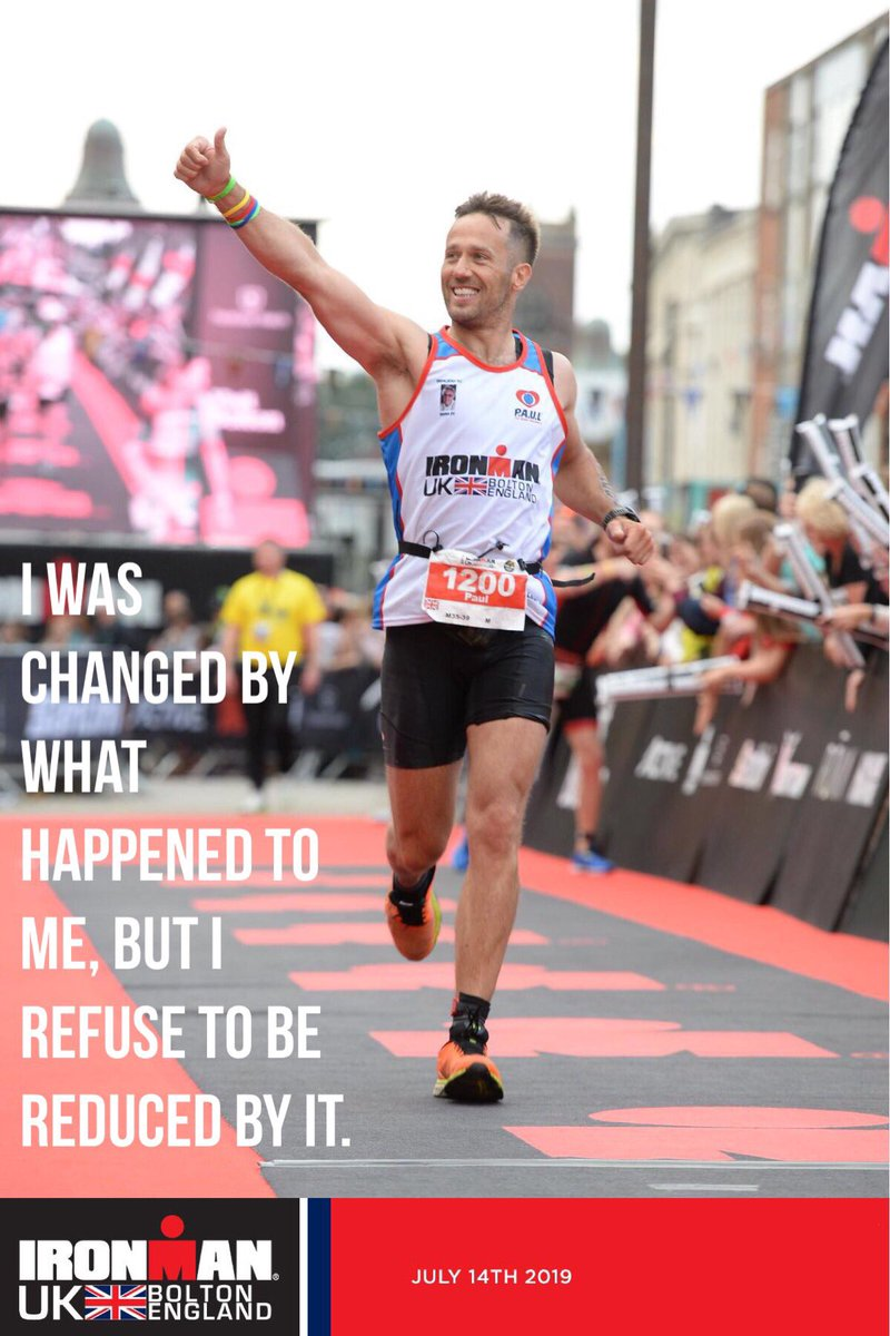 From brain haemorrhage to Iron Man.....What a journey! It's taken everything and more to reach my new potential and make this possible, but it was possible @PAUL4Brain  I was changed by what happened to me, but I refuse to be reduced by it. #NeverGiveUp #braininjury #Ironman <br>http://pic.twitter.com/Sp4S0dNvK1