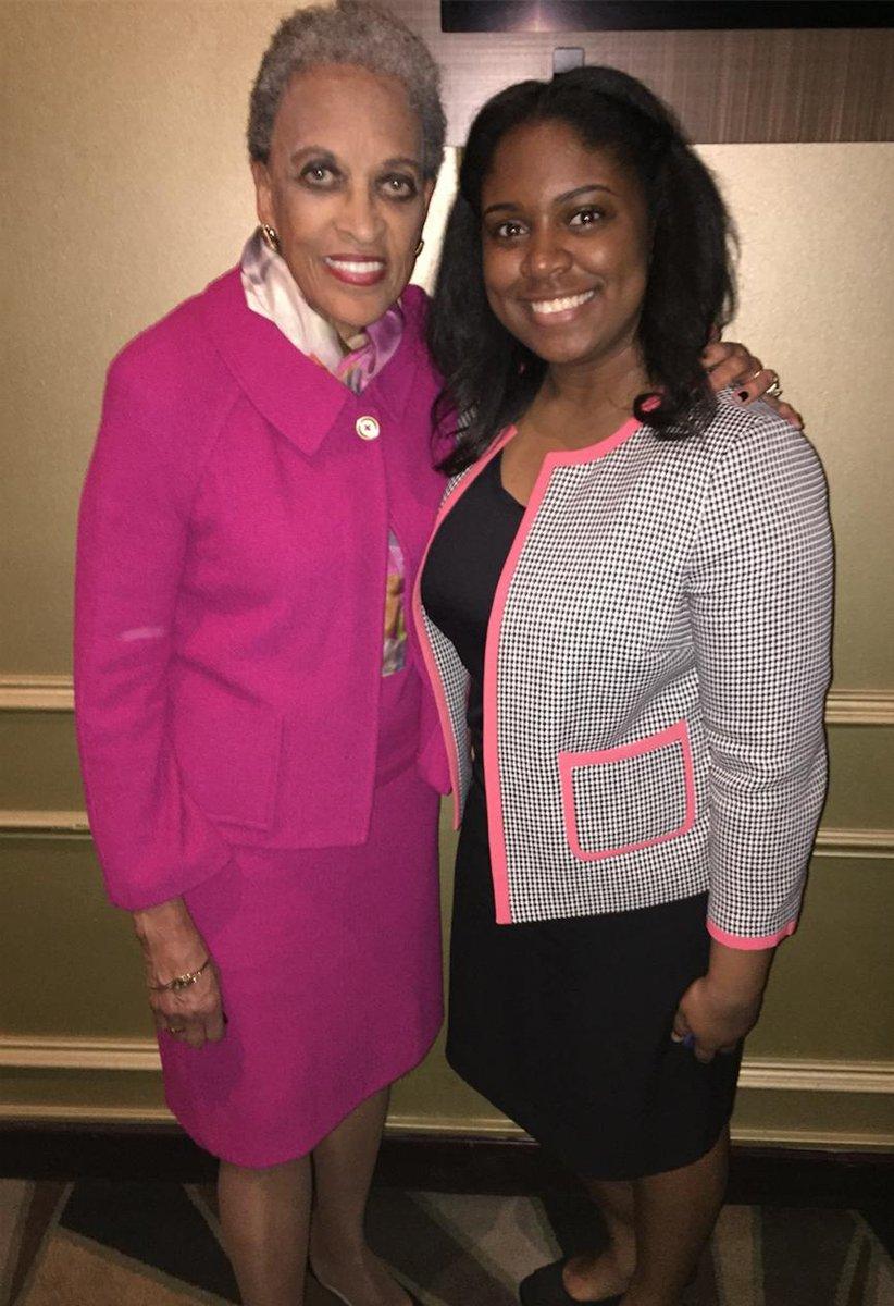 Here, Khari is pictured with Johnetta B. Cole, the first female African American President of Spelman College (Khari's Alma Mater).  #gsusportadmin #spelhouse #atlantarotaryclub #spelmancollege #hbcupresidents #hbcu #rotaryclub