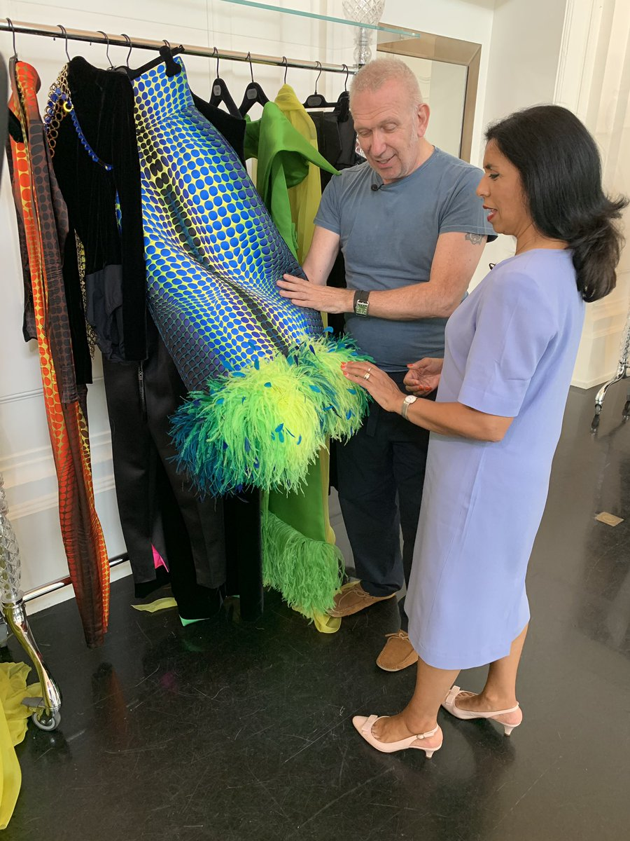 Today in his fabulous Paris atelier @JPGaultier told @NinaNannarITV what he really thinks of how Brits dress. Tune in now to @itvnews News at Ten to see our piece