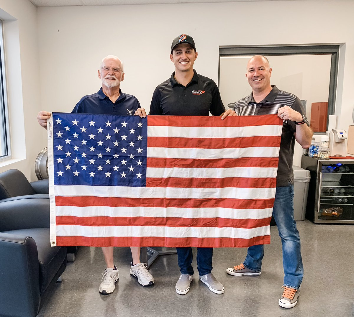 Today I was honored to meet Lt. Col. Randall Hood who presented me with this beautiful American flag that recently flew on a special mission. This year on the 75th anniversary of D-Day, Randall flew 1 of 17 C130's over Normandy, dropping 1,000 Paratroopers to honor those fallen.