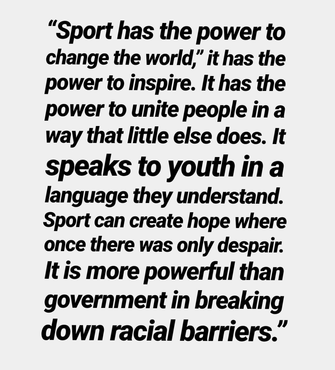 Being a #SportsLover and as it's #NelsonMandelaDay 👇 here's his quote that defines sports the best.....@NelsonMandela @Africasports @africasport @sportstarweb @FirstpostSports @HTSportsNews @ddsportschannel @IndiaSports @StarSportsIndia @toisports