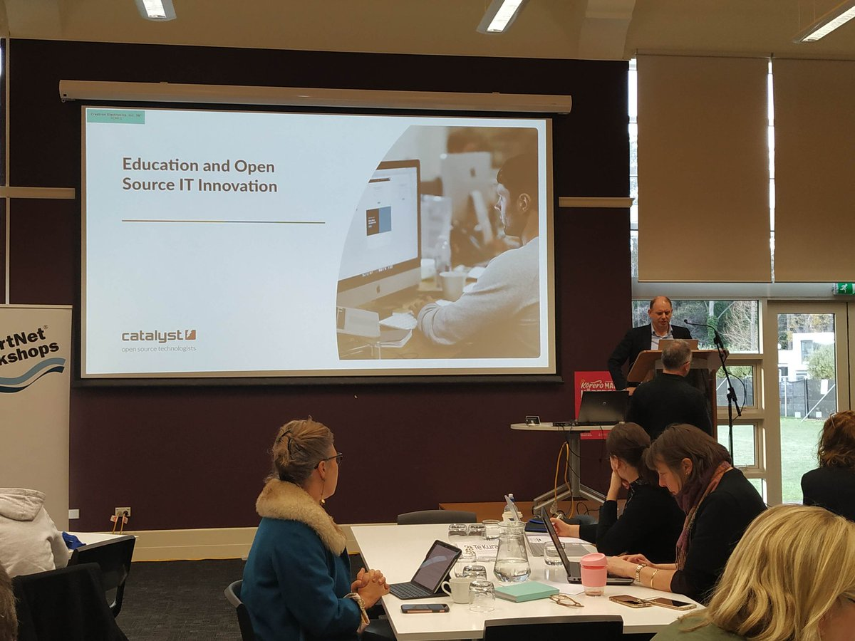 "test Twitter Media - First session for the day with Paul Stevens, GM, The Open Knowledge Group, @CatalystNZ on #education and #OpenSource IT Innovation. ""In open source we've really embraced the community; not just at the technical level but at the user level as well."" #DisruptiveInnovation  #ELF19NZ https://t.co/593sb00Ass"